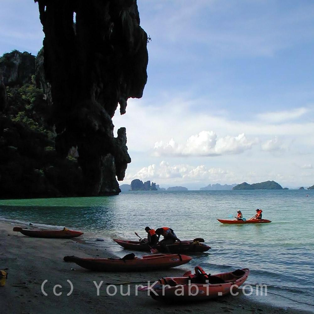 Explore the coastline by kayak