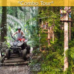 Krabi ATV and Ziplines combo tour