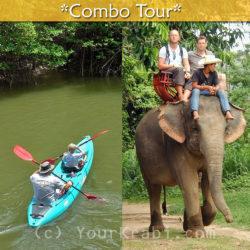 Kayaking in Bor Thor + Elephant Trekking