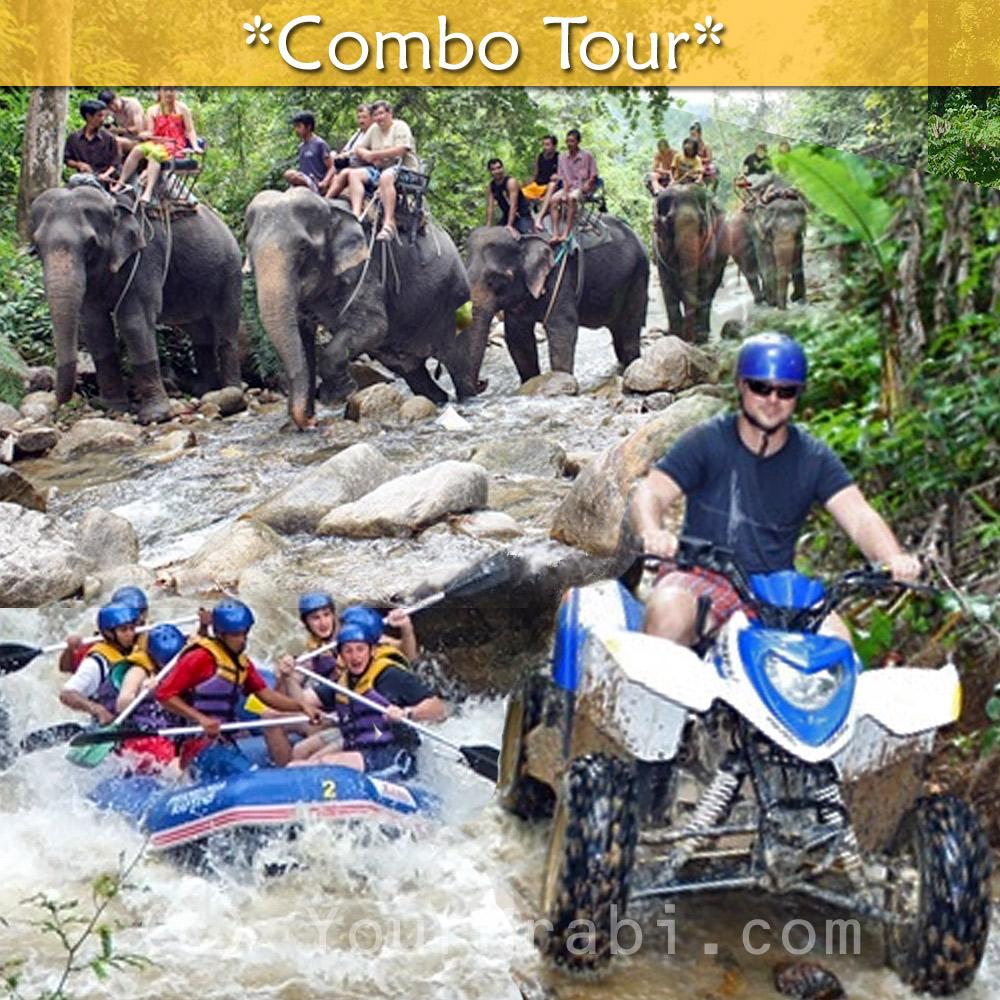 Adventure Combo - Rafting, ATV + Elephant trekking