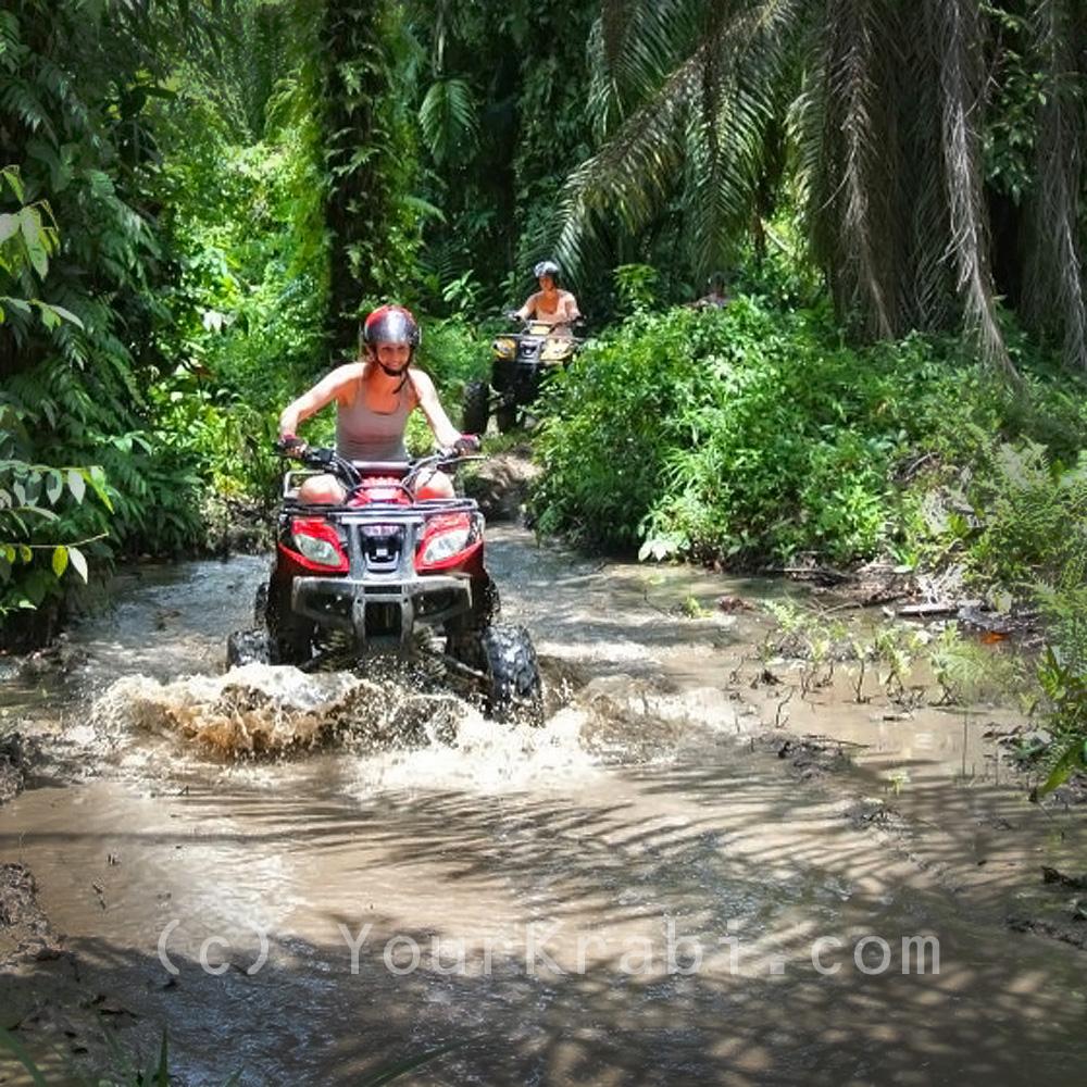 ATV through the river