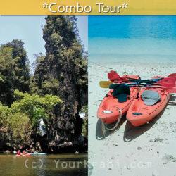 Kayak in both Koh Hong and Thalane in a single day