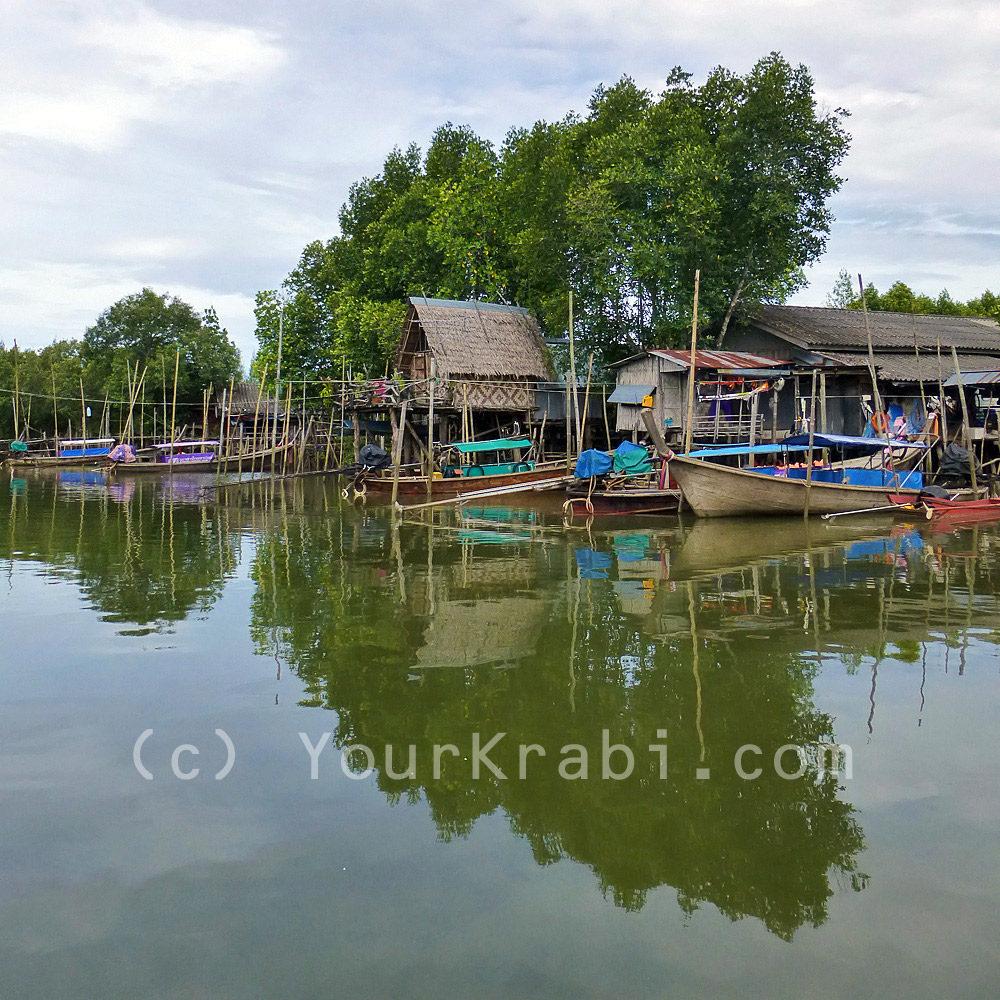 Fishing villages along the Krabi River