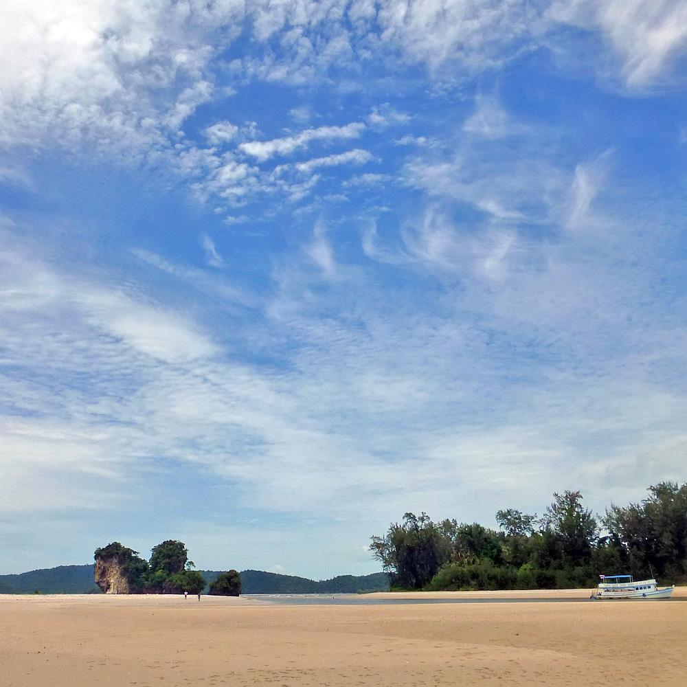 Deserted Island Beach: Island Hopping During Rainy Season